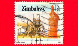 ZIMBABWE - Usato - 1985 - Cultura, Tecnologia Ed Economia - Industria Mineraria - Stamp Mill - 12 - Zimbabwe (1980-...)