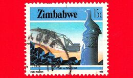 ZIMBABWE - Usato - 1985 - Cultura, Tecnologia Ed Economia - Industria Mineraria - Coal Mining - 15 - Zimbabwe (1980-...)
