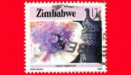 ZIMBABWE - Usato - 1985 - Cultura, Tecnologia Ed Economia - Minerali -Pietre Preziose - Amethyst - 17 - Zimbabwe (1980-...)
