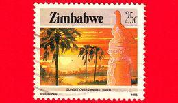 ZIMBABWE - Usato - 1985 - Cultura, Tecnologia Ed Economia - Zambezi River - 25 - Zimbabwe (1980-...)