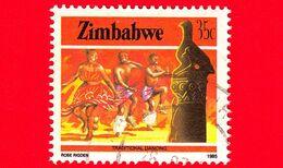 ZIMBABWE - Usato - 1985 - Cultura, Tecnologia Ed Economia - Danza - Traditional Dance - 35 - Zimbabwe (1980-...)