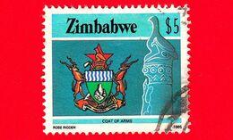 ZIMBABWE - Usato - 1985 - Cultura, Tecnologia Ed Economia - Stemmi Araldici - Coat-of-arms - $ 5 - Zimbabwe (1980-...)