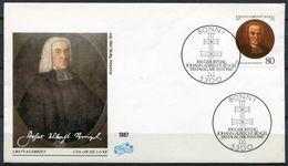 """First Day Cover Germany 1987 Mi. Nr.1324 Ersttagsbrief """"300.geburtstag Von Johann Albrecht Bengel,Theologe  """"1 FDC - Teologi"""