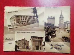 6 - CARTOLINA  SALUTI DA S. GIORGIO DI PIANO - Italy