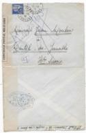 Lettre  LES VANS ARDECHE 1939 Censure 2 Marques De Contrôle Postal Militaire Différentes - Marcophilie (Lettres)