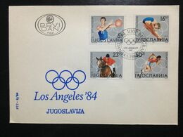Yugoslavia, Uncirculated FDC, « OLYMPIC GAMES », « LOS ANGELES '84 », 1984 - Sommer 1984: Los Angeles