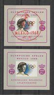 Belgique Blocs Vignettes JO 68 ** - Sommer 1968: Mexico