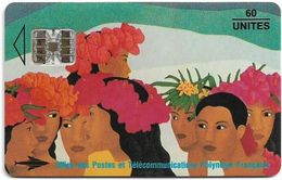 French Polynesia - OPT - La Bringue, Michèle Dallet 1993, SC7, 02.1993, 60Units, 20.000ex, Used - Polinesia Francese