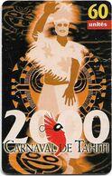 French Polynesia - OPT - Carnaval De Tahiti 2000, Gem1A Symmetr. Black, 10.2000, 60Units, 50.000ex, Used - Polinesia Francese