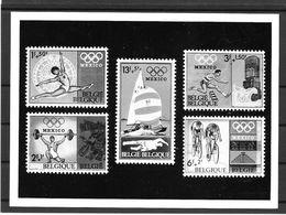 Belgique Série Complète Bloc Noir Essai Photo Non Dentelé Imperf ND JO 68 ** - Sommer 1968: Mexico