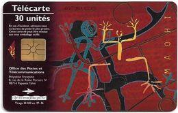 French Polynesia - OPT - Maohi, The Hearth, Gem1A Symmetr. Black, 06.1997, 30Units, 20.000ex, Used - Polinesia Francese
