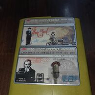 Israel-(bz-86-87)-centennial Of Cinema+centennial Of Radio(2cards)-dont Collect In Folder-tirage-200.000-used+2card Prep - Israele