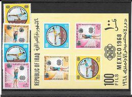 Irak Série Complète+Bloc JO 68 ** - Zomer 1968: Mexico-City