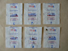 Déstockage FRANCE, 6 Papiers, Les Maisons Françaises, TB. - Sucres