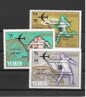 Yemen Kingdom Série Complète Surch. Ovpt JO 68 ** - Zomer 1968: Mexico-City