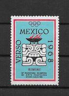Italie Vignette Rimini JO 68 ** - Zomer 1968: Mexico-City