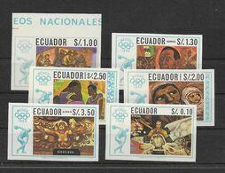 Equateur Série Complète Non Dentelé Imperf ND Très RARE JO 68 ** - Sommer 1968: Mexico