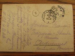 1918-19: Carte Vue De Liège En S.M. Oblitérée P.M.B. N° 6 Pour Le CACHET DE FORTUNE TELEGRAPHIQUE De FELUY-ARQUENNES - Fortune Cancels (1919)