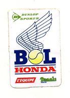 Autocollant Bol Honda Dunlop Sports - L'équipe - Tennis Magazine- Format 10x6.5cm - Autocollants