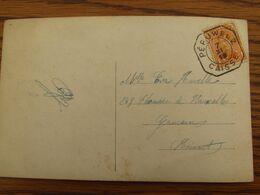 """1918-19: N° 135 Sur Carte Fantaisie Oblitérée De FORTUNE (CACHET """"CAISSE"""") De PERUWELZ En 1919 - Fortune Cancels (1919)"""