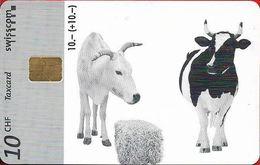 Switzerland - Swisscom (Chip) - Benefit Cards - B-75 - Swissaid, Cows & Straw, 12.1997, 10Fr, Used - Suisse