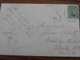 """1918-19: N° 137 Sur Carte Fantaisie Oblitérée De FORTUNE (CACHET """"CAISSE"""") De WAVRE En 1918 - Fortune Cancels (1919)"""