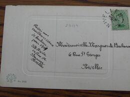 1918-19: N° 137 Sur Carte Fantaisie Oblitérée De FORTUNE (CACHET ELECTORAL) De NIVELLES En 1918 - Fortune Cancels (1919)