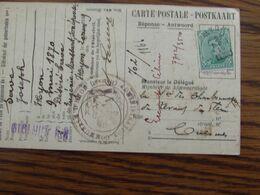 1918-19: N° 137 Sur Carte Postale Oblitérée De FORTUNE (CACHET ELECTORAL) De HYON En 1919 - Fortune Cancels (1919)