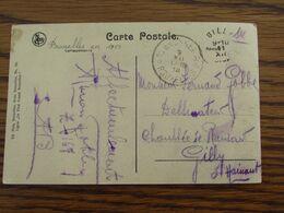 1918-19: Carte Vue De Bxl Oblitérée De L'AGENCE DE FORTUNE De BRUSSEL 37 (bilingue) Pour Le CACHET ELECTORAL De GILLY En - Fortune Cancels (1919)