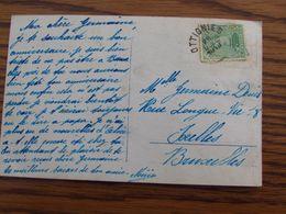 1918-19: N° 137 Sur Carte Fantaisie Oblitérée De FORTUNE (CACHET ELECTORAL) De OTTIGNIES En 1918 - Fortune Cancels (1919)