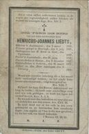 BP Zeer Eerwaarde Heer Liedts Henricus Joannes (Oudenaarde 1805 - Lokeren 1863) - Pastoor-deken Van Lokeren - Alte Papiere