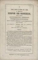 BP Van Hoorebeeck Seraphin (Aalst 1802 - 1864) - Alte Papiere