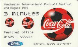 REINO UNIDO. COCA COLA - FOOTBALL MANCHESTER FESTIVAL. 31-8-97. (767) - Royaume-Uni