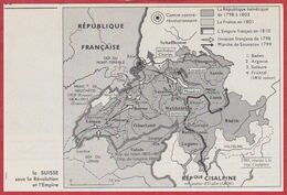 La Suisse Sous La Révolution Française Et Sous L'Empire. Napoléon 1er. Larousse 1960. - Documentos Históricos