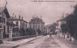 Moudon VD, Route De Lucens Et Ecole De Fromagerie (4563) - VD Waadt