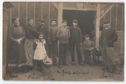 CARTE PHOTO R. MAIRE RUE NEGRIER LE MANS: ARTISAN & SON PERSONNEL DEVANT SON ATELIER - ECRITE DU MANS 1912 -z 2 SCANS Z- - Le Mans