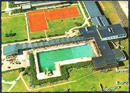 B9326 - Helgoland Luftaufnahme - Schwimmbadeanlage Und Tennisplätze - Aufnahme Verlag Otto Schulze - Helgoland