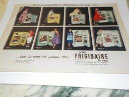 ANCIENNE PUBLICITE FRIGO FRIGIDAIRE NOUVEAU MODELE 1956 - Pubblicitari