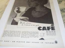ANCIENNE PUBLICITE DOUBLE PLAISIR ODORAT ET GOUT CAFE 1958 - Pubblicitari