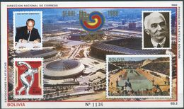 Bolivia 1988 CEFIBOL 1312,  Juegos Olímpicos De Verano En Seúl. Discóbolo. Estadios. - Bolivia