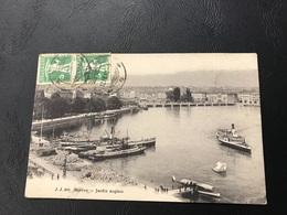 489 - GENEVE Jardin Anglais - 1910 Timbrée - GE Genève