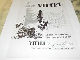 ANCIENNE PUBLICITE CET ETE  VITTEL  1955 - Reclame