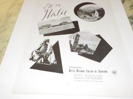ANCIENNE  PUBLICITE  ITALIE  EN ETE 1953 - Reclame