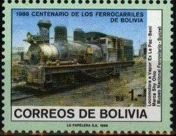 Bolivia 1988 CEFIBOL 1315s  Centenario De Los Ferrocarriles. Locomotora, Ferrocarril, - Bolivia