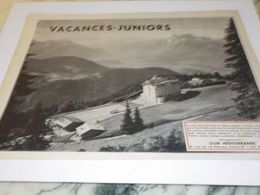 ANCIENNE PUBLICITE VACANCES JUNIORS AVEC CLUB MEDITERRANEE 1957 - Pubblicitari