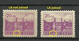 """Estland Estonia 1941 German Occupation Michel 5 ERROR Abart 2 Types - L & A In """"Estland"""" Verbunden Und Nicht * - Occupation 1938-45"""