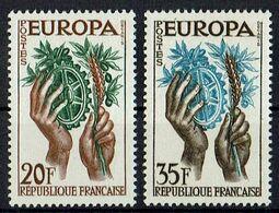A100.001 // Frankreich 1957 // Mi. 1157/1158 ** // Europa - 1957