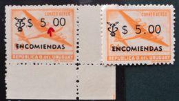 1965 URUGUAY Mnh Variety Without Point-Encomiendas Colis Postaux Yv E95- Quadrimotor Avion Aircraft Cuadrimotor 4 Engine - Uruguay