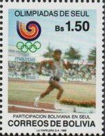 Bolivia 1988 CEFIBOL 1319  Olimpiadas De Seul. Atletismo. - Bolivia