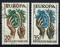 A100.003 // Frankreich 1957 // Mi. 1157/1158 O // Europa - 1957